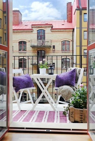 Pretty beautiful Scandinavian balcony-Trendy designs for outdoor home spaces