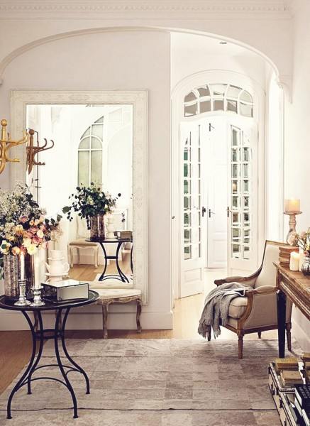Romantic room with beautiful pieces of furniture- interior design ideas for own, private, intimate place.