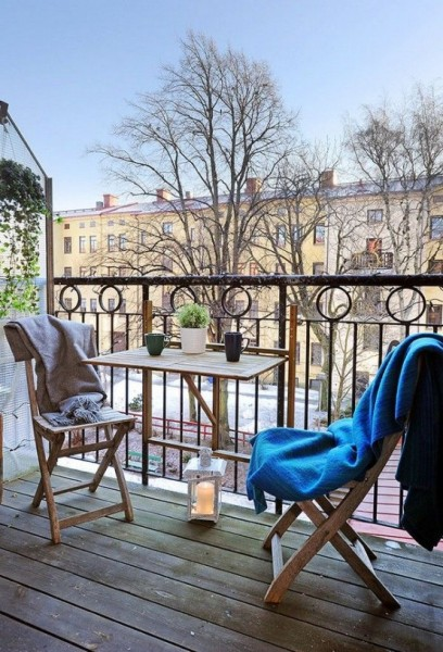 Scandianvian balcony with wooden accents-Trendy designs for outdoor home spaces