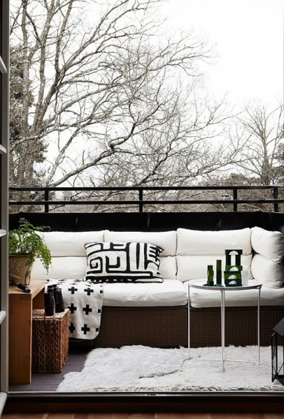 Scandinavian terrace with comfortable sofa-Trendy designs for outdoor home spaces