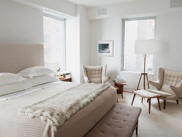 Serene mid-century bedroom– elegant interior design for sleeping rooms