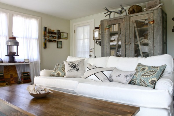 Shabby Chic with found objects from nature