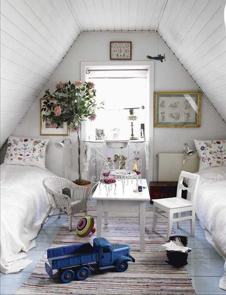 Shabby chic kids room- interior design and home decorating ideas
