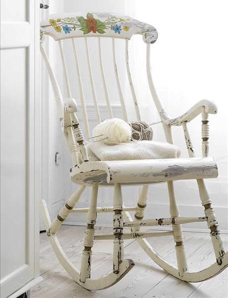 Bon Shabby Chic Rocking Chair