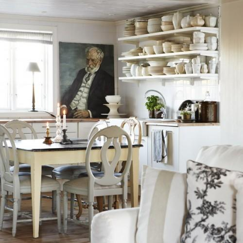 Shabby chic small dining room- interior design and home decorating ideas