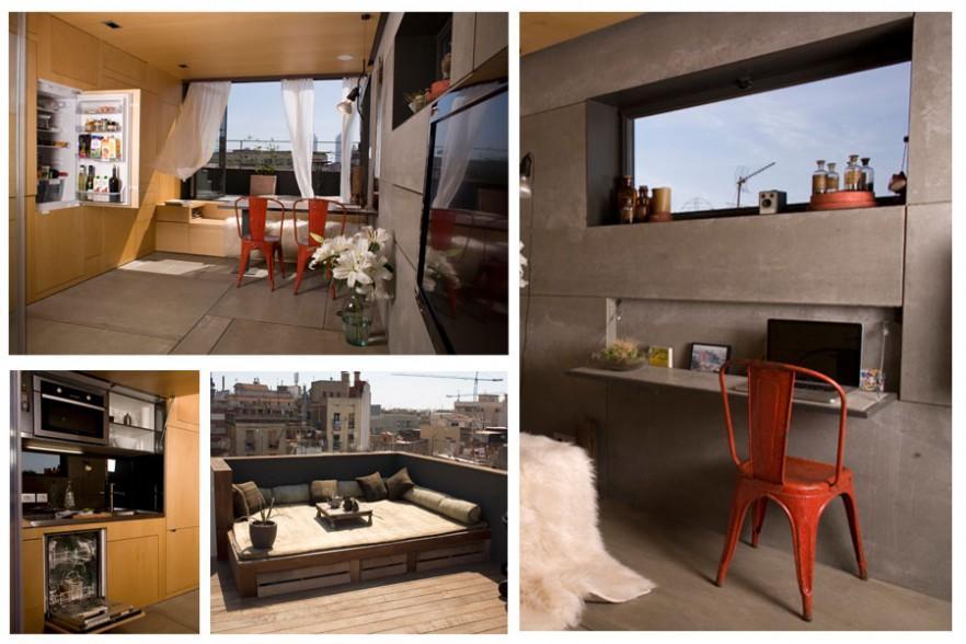 260sq.feet Small Apartment Interior Design in Barcelona