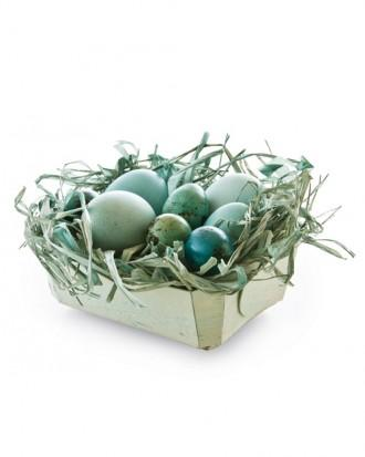 Small Easter basket in blue and green nuances