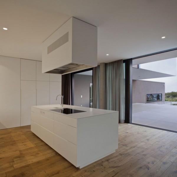 Small contemporary kitchen island