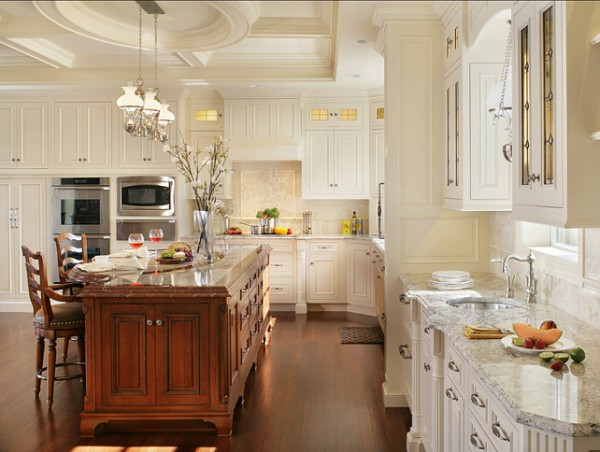 Spacious Kitchen in white colors-42 Kitchen Interior Design Trends for Traditional Homes