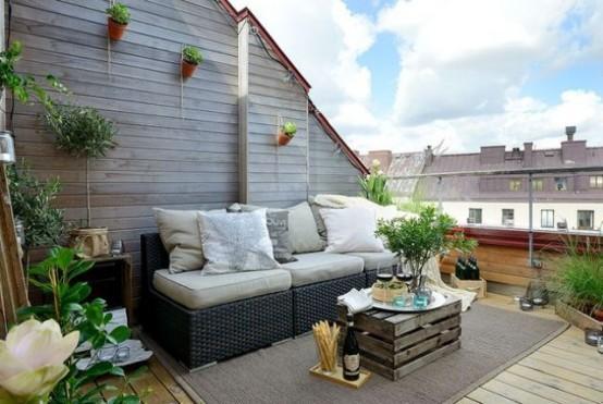 Spacious contemporary Scandinacian balcony-Trendy designs for outdoor home spaces