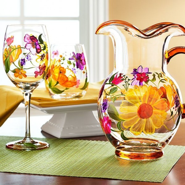 Spring colored water pitcher for Easter