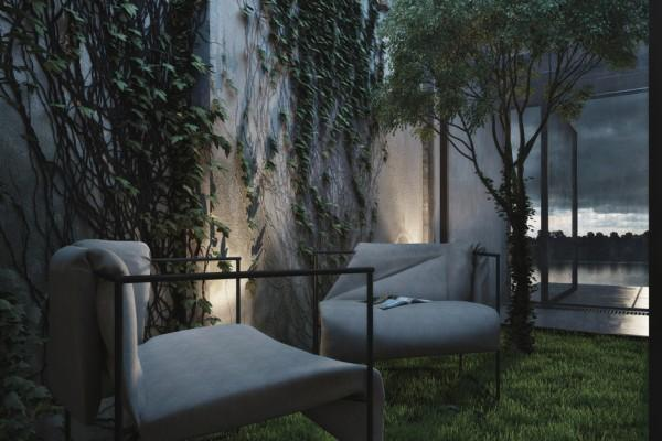 Stylish contemporary chairs for outdoor use