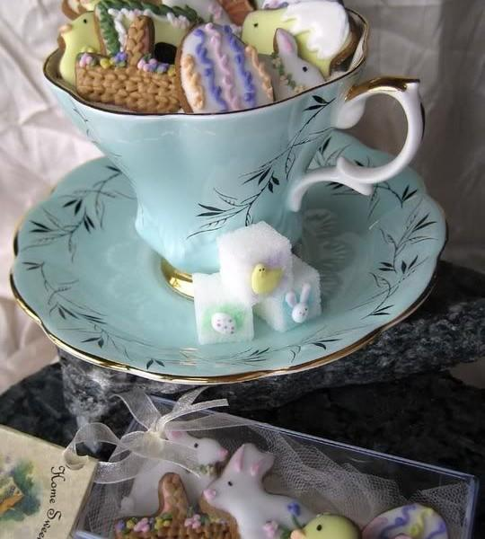 Tea cup full of sweets