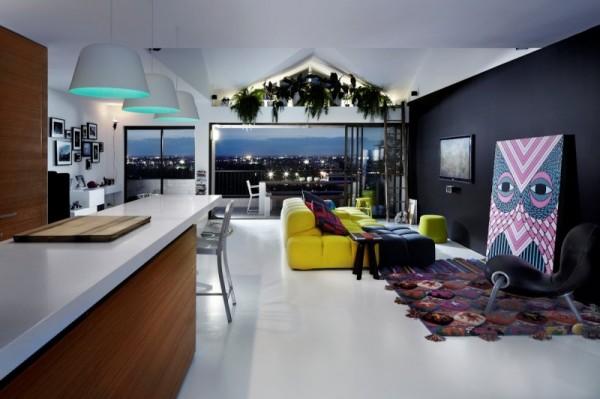The spacious living room-Contemporary Luxurious Penthouse Interior Design in Australia