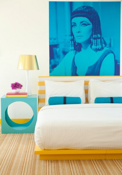 This hotel room at The Lords in Miami-Bedroom Interior Design Examples Inspired from Hotel Rooms