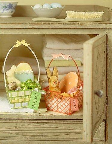 Two easter baskets for him and her