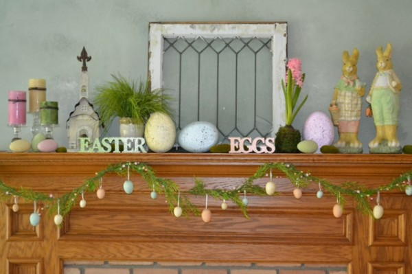 19 Fantastic Easter Fireplace Mantle Decorating Ideas Founterior