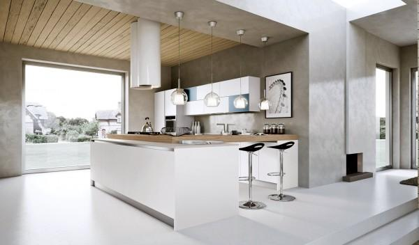 White kitchen with a lot of natural sun light