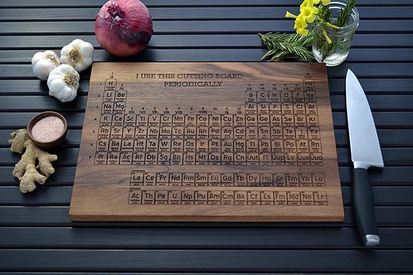 Periodic Table Cutting Board - a Creative Kitchen Accessory