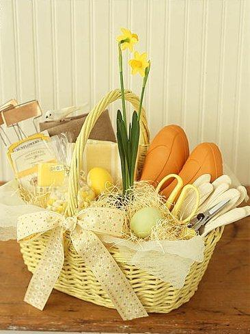 Yello Easter basket full of gifts