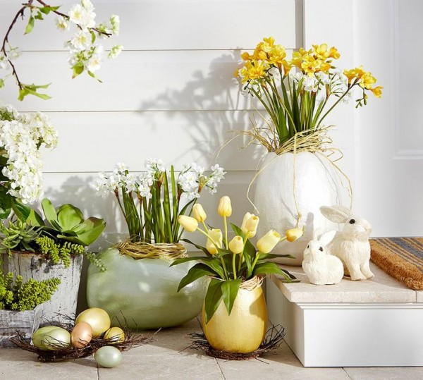 Easter Decorations With Pictures   Tables, Crafts, Baskets Home Decorations  With Impressive Holiday