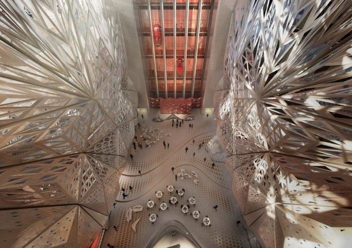 A look inside the hotel from above- Creative Modern Architecture by Zaha Hadid