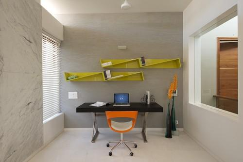 A room separated for home work- personal office design ideas