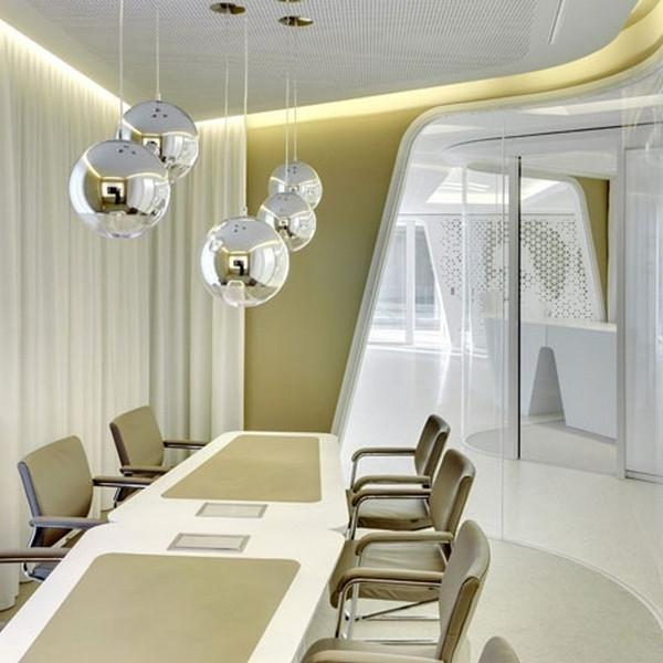 A Contemporary Business Discussion Room In Mild Colors Modern Bank Interior Design