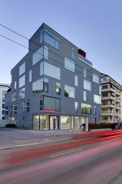 A_view_from_the_street-Modern Bank Interior Design - Raiffeisen in Zurich