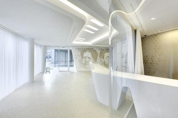 A View Towards The Contemporary Banks Office Modern Bank Interior Design