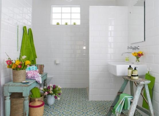 Bathroom Decorating Ideas with Natural Flowers