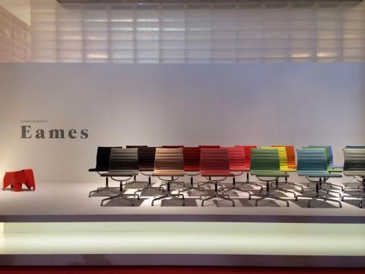 Charles & Ray Eames for Vitra - Aluminium Chairs-at Milan Design Week