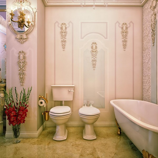 Classic bathroom with toilet