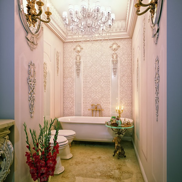 Classic bathroom with tub