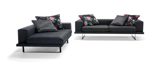 Comfortable textile sofas