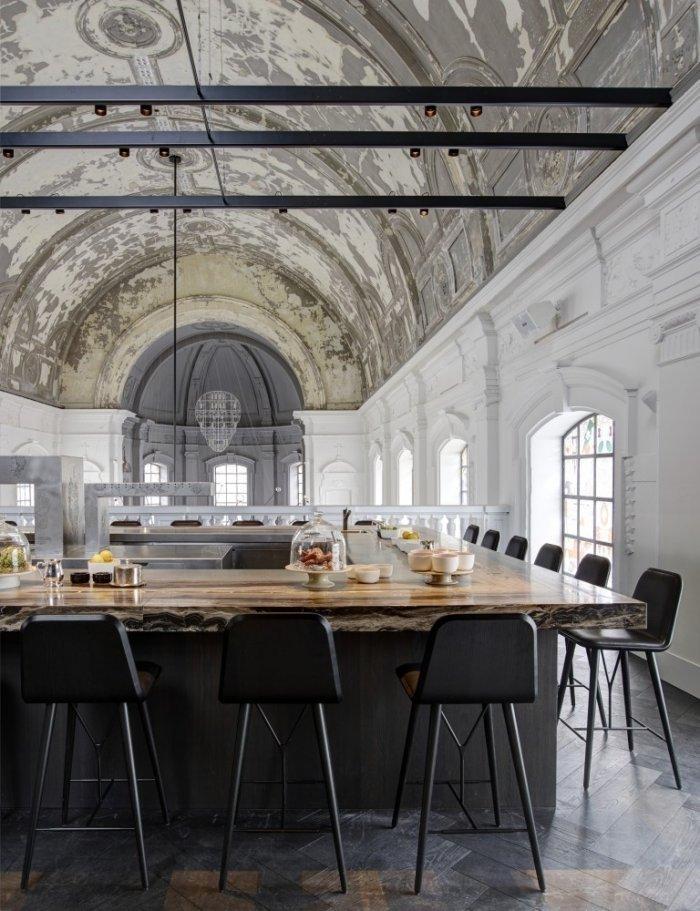 Commercial eclectic interior design- The Jane Restaurant in Antwerp