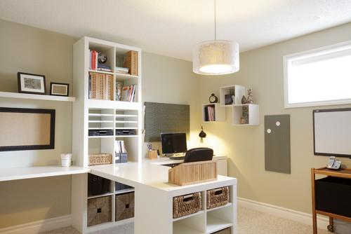Contemporary small working home desk- personal office design ideas