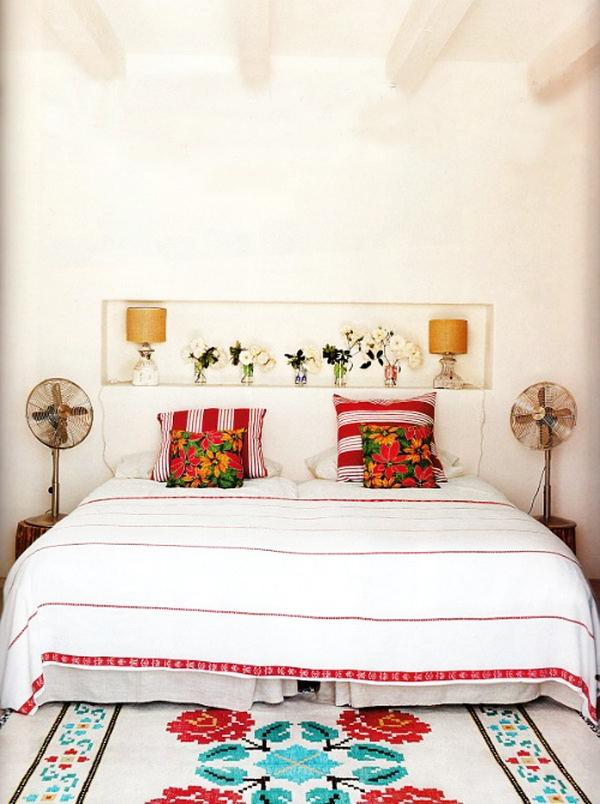 Cozy and romantic bedroom– fresh summer home emotions