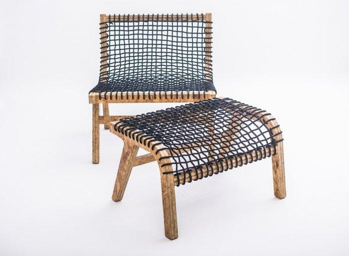 Creative modern chair and stool for legs