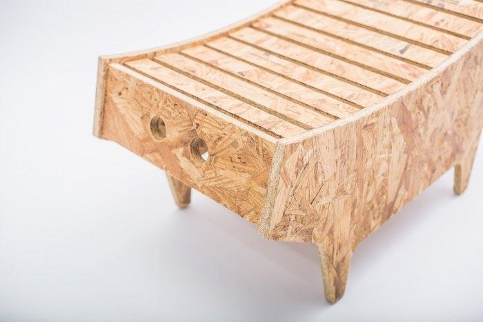Creative small stool made of wooden material