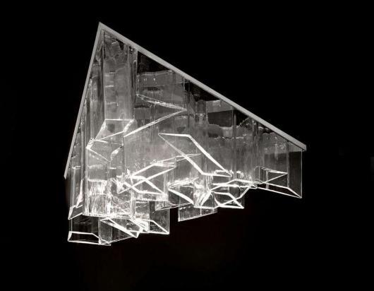 Daniel Libeskind for Lasvit - geometric chandelier-at Milan Design Week
