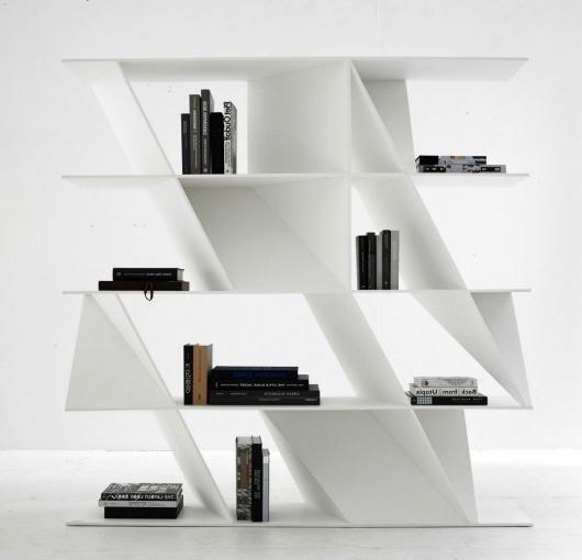 Daniel Libeskind for Poliform - stylish Web bookcase-at Milan Design Week