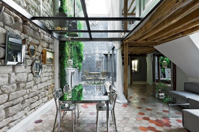 Designer approach inside the dinning room- Apartment Interior Design in Paris