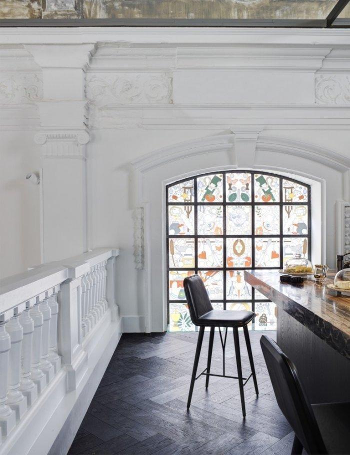 Eclectic interior in Netherlands- The Jane Restaurant in Antwerp