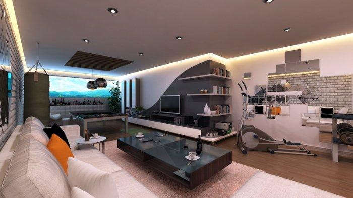 Fitness and entertainment room- Fresh home ideas for having fun