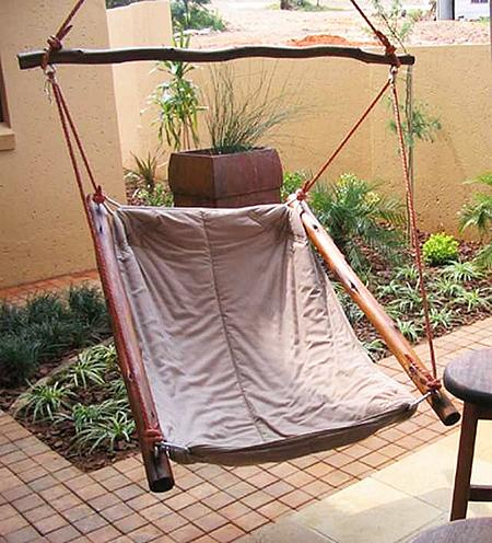 Front porch swing– a home garden lounge zone