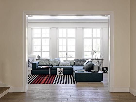 Green textile sofas