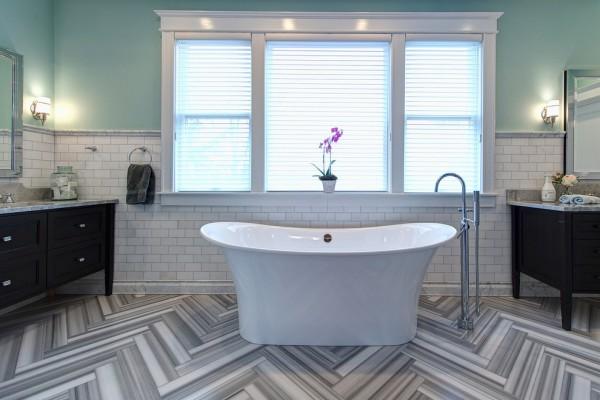 Modern Art Deco Bathroom Design In A Victorian Home