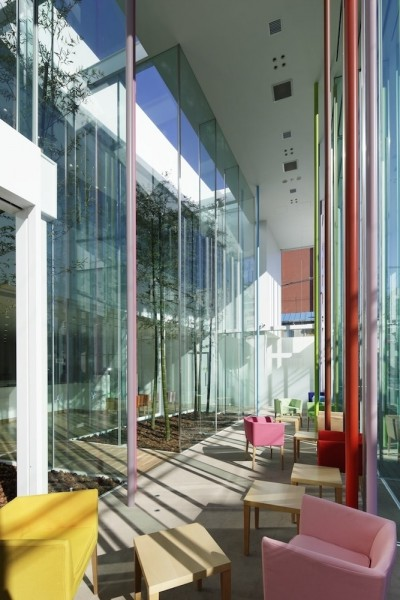 Impressive colorful interior of a contemporary commercial building