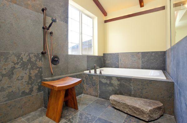 Japanese bathroom with raw design
